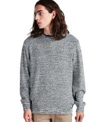 sweater jaspeado con puño gris sioux