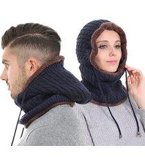 unisex beania a maglia pesante calda con estensioni protettive per orecchi sciarpa con cappuccio chullo passamontagna calda antivento