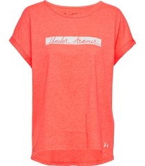 12.1 graphic script classic crew t-shirts & tops short-sleeved röd under armour