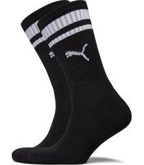 puma crew heritage stripe 2p unisex underwear socks regular socks svart puma