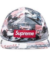 supreme grand prix camp cap - black