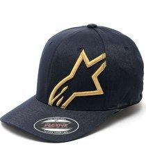 gorra azul-amarilla alpinestars