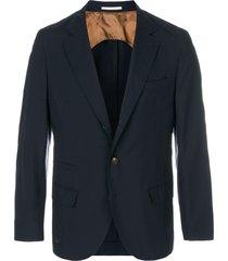 brunello cucinelli fitted formal blazer - blue