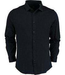 armani exchange overhemd donkerblauw slim fit 3kzcfs.zj2zz/1510