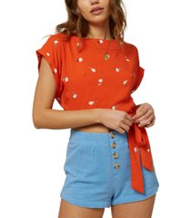 o'neill floral-print crop top