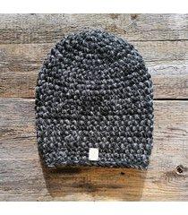 czapka #czarny #szary #melanż
