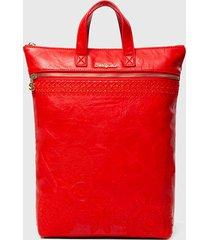 mochila rojo desigual