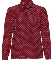 clsc mini med blouse blus långärmad röd michael kors