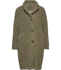 teddy coat outerwear faux fur groen r-collection