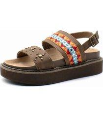 sandalia casual multicolor mia detogni