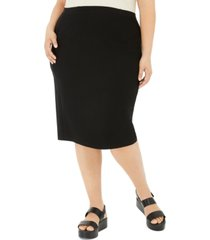 eileen fisher system plus size high-waist pencil skirt