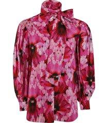 alexander mcqueen woven floral print shirt