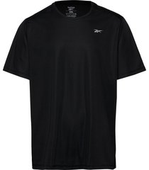 re basic ss tee t-shirts short-sleeved svart reebok performance