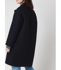 a.p.c. women's ninh coat - marine - fr 40/uk 12