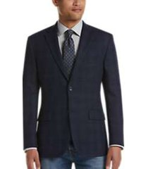 pronto uomo platinum modern fit sport coat navy plaid
