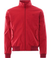 made in england harrington jacket - rosso j9800-850