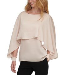 dkny long-sleeve cape top