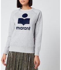 isabel marant étoile women's milly sweatshirt - grey - fr 40/uk 12