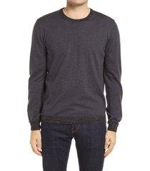 men's bugatchi crewneck merino wool blend sweater
