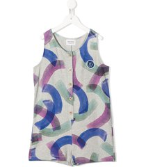 bobo choses over painted playsuit - grey