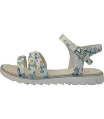 sandalia casual mariposas blanca/azul lag