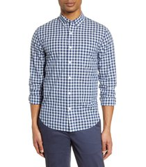 men's bonobos summer weight slim fit gingham button-down shirt, size xx-large r - blue