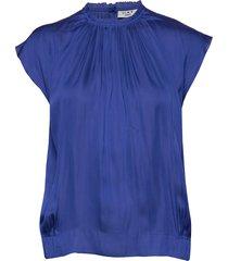 day lake blouses short-sleeved blå day birger et mikkelsen