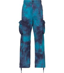 off-white tie-dyed cargo trousers - black