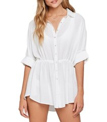 women's l space pacifica cover-up tunic, size medium/large - white