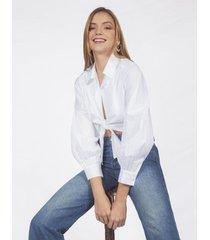camisa adrissa blanca con anudado