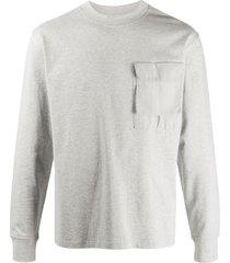 soulland long-sleeve pocket sweatshirt - grey