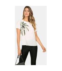 lez a lez - blusa ampla estampada coconut