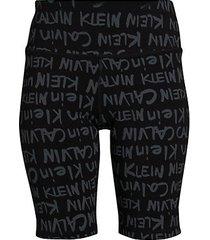 high-rise brush logo-print shorts
