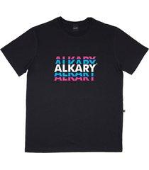 camiseta alkary logotipia preta - kanui