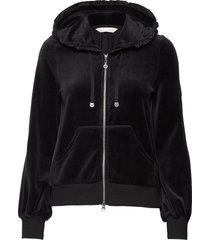 velouragenius hood jacket hoodie trui zwart odd molly