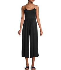 lea & viola women's ankle-hem wide-leg jumpsuit - black - size xs