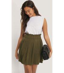 na-kd paper waist mini skirt - green