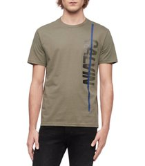 calvin klein jeans men's vertical calvin logo graphic t-shirt