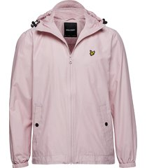 zip through hooded jacket dun jack roze lyle & scott
