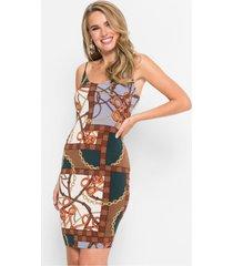 jurk met klassieke print