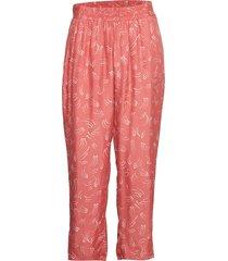 pants in dot print w. elastic waist casual byxor rosa coster copenhagen
