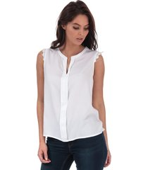 only womens kimmi lace trim top size 6 in white