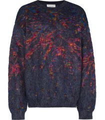 iroquois tie-dye jacquard jumper - multicolour