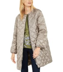 weekend max mara collarless quilted puffer coat