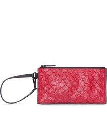 carteira feminina mini pouch - vermelho