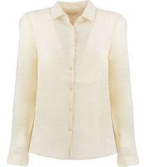 overhemd atpco w046c01 overhemden vrouw beige