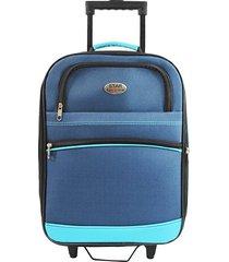 "maleta de viaje tipo cabina discovery 18"" azul - explora"