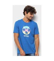 camiseta aleatory palm beach masculina