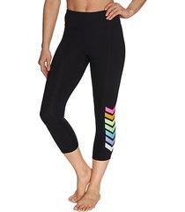 rainbow chevron jersey cropped leggings