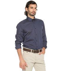 camisa azul oscuro preppy ml cfit rayas bd
